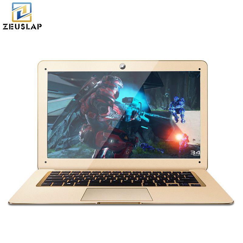 ZEUSLAP-A8 14inch 1920X1080P 4GB Ram+64GB SSD Windows 10 system Ultrathin Quad Core Fast Boot Laptop Netbook Computer on Sale