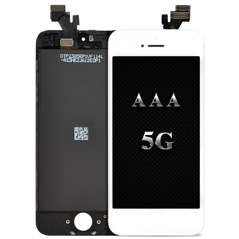 100% work 10pcs/LOT No Dead Pixel LCD For Iphone 5 LCD Display Touch Screen Digitizer Assembly Replacement White Black free gift