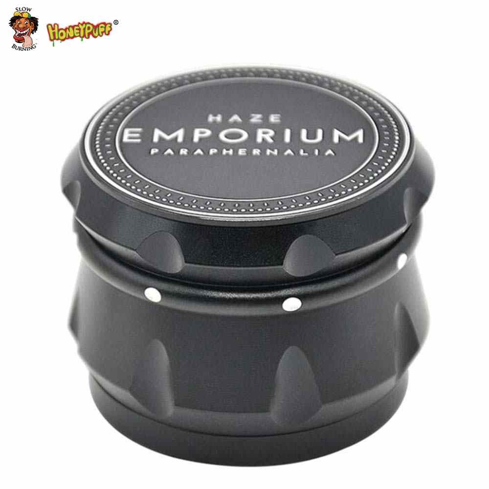 HONEYPUFF Haut-Parleur Forme Herbe Grinder Aluminium D'avions Grinder Mauvaises Herbes 56 MM 4 Couches Broyeur Herb Tabac Grinder Spice Crusher