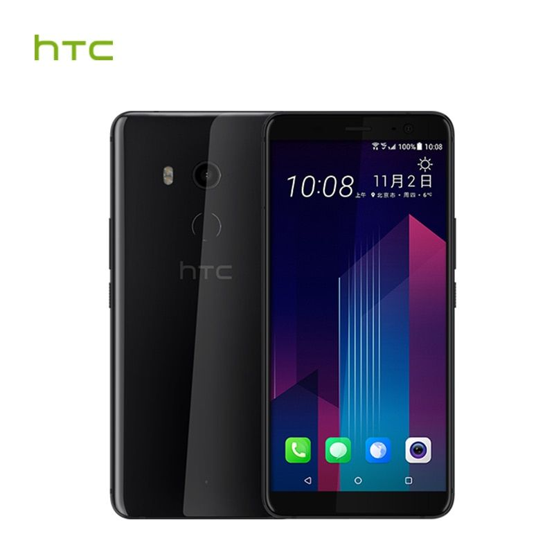 HTC U11 Plus 6GB RAM 128GB ROM Mobile Phone Snapdragon 835 Octa Core 6.0inch Android 8.0 1440x2880px IP68 Waterproof Dustproof