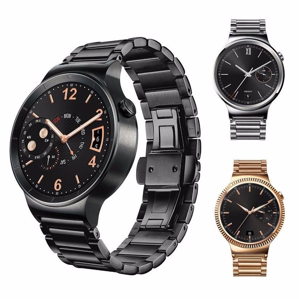 Hiqh Qualité Bracelet 3 Points de Rechange En Acier Inoxydable 316L Lien Bande Montre-Bracelet Montre Bracelet Bande Pour Huawei Smart Montre 1er