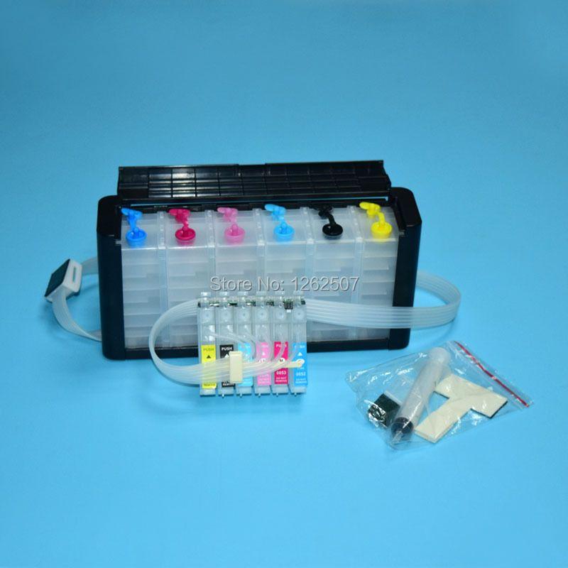 81N Ciss ink system For Epson Stylus photo 1410 R290 R390 RX590 RX690 RX610 TX800 TX700 T50 TX810FW Artisan 725 730 1430 Printer