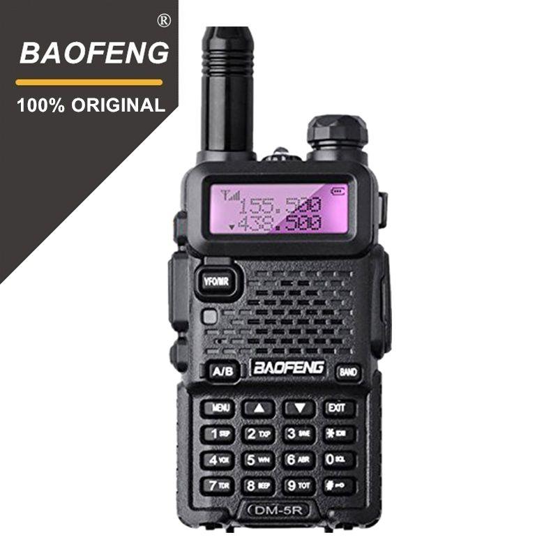 Baofeng DM-5R Plus Dual Band DMR Digital Walkie Talkie Transceiver 1W 5W VHF UHF 136-174/400-480 MHz Long Rang Two Way Radio