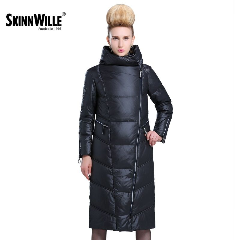 SKINNWILLE 2017 winter collection Long down jacket More <font><b>women</b></font> straight down jacket