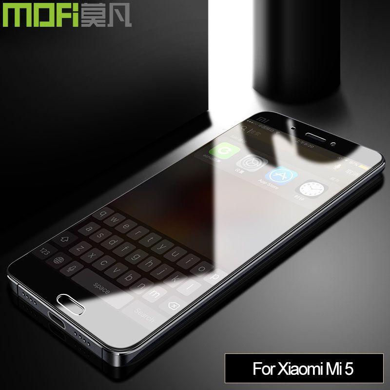 Xiaomi Mi5 pour verre 5.15 pouces Mofi verre trempé Original pour Xiaomi Mi5 0.26mm xiomi protecteur d'écran