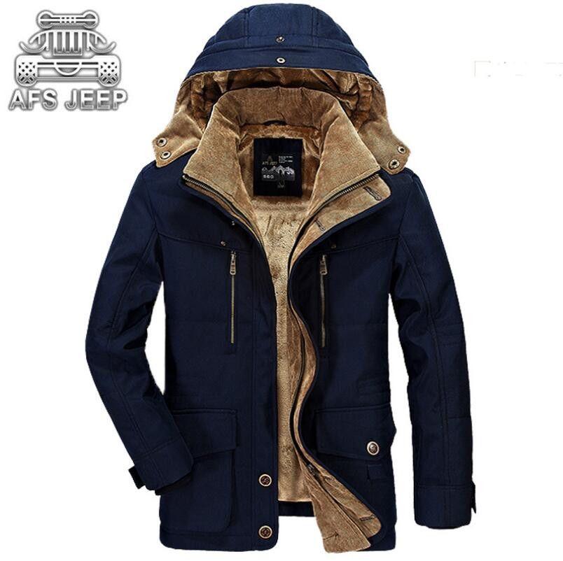 Winter jacket men New 2017 Windbreaker Snow Original Brand AFS Jeep Warm Thick Military Leisure Men's Down Jackets Parkas M-5XL