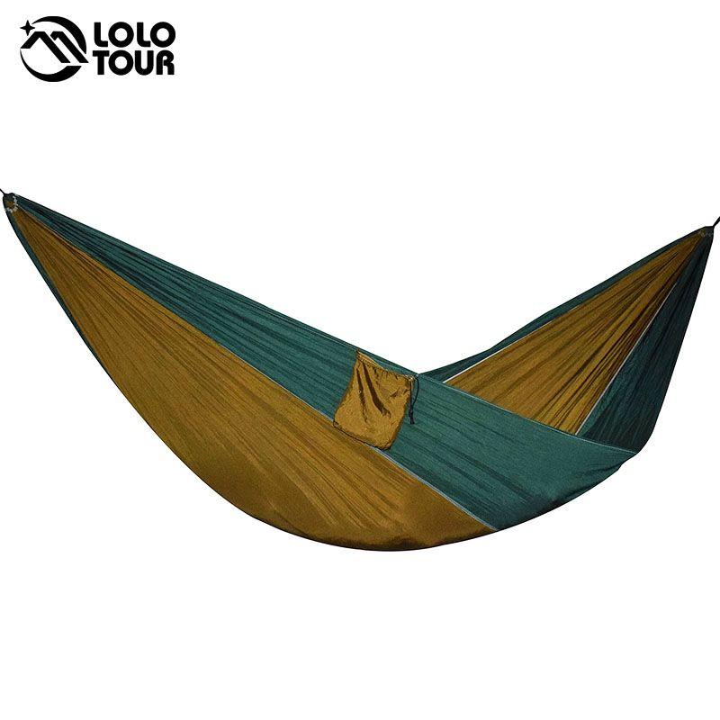 Двойной на открытом воздухе indoor парашют ткань спальный гамак Сильный Кемпинг качели для отдыха Flyknit hamac hamaca hamak сад hangmat
