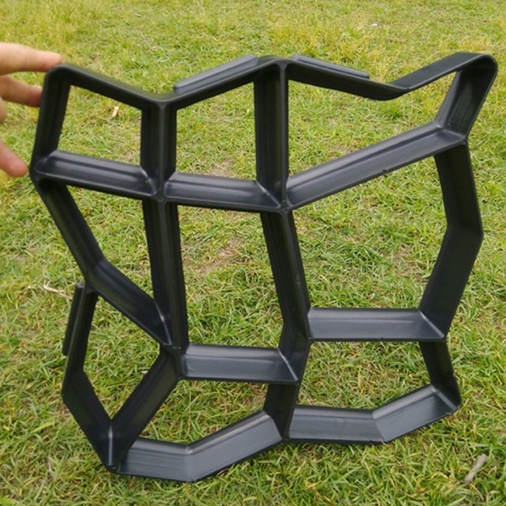 Garden Path Grids Maker Mold Cement Brick Molds Stone <font><b>Road</b></font> Auxiliary Tools Manually Paving 43.5*43.5cm