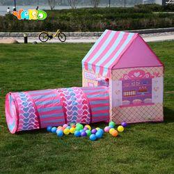 Halaman Anak-anak Bermain Kids Tenda Terowongan Bola Pit Bayi Lipat Bermain Tenda Terowongan Bayi Merangkak Playhouse Anak-anak Tikar Permainan Mainan
