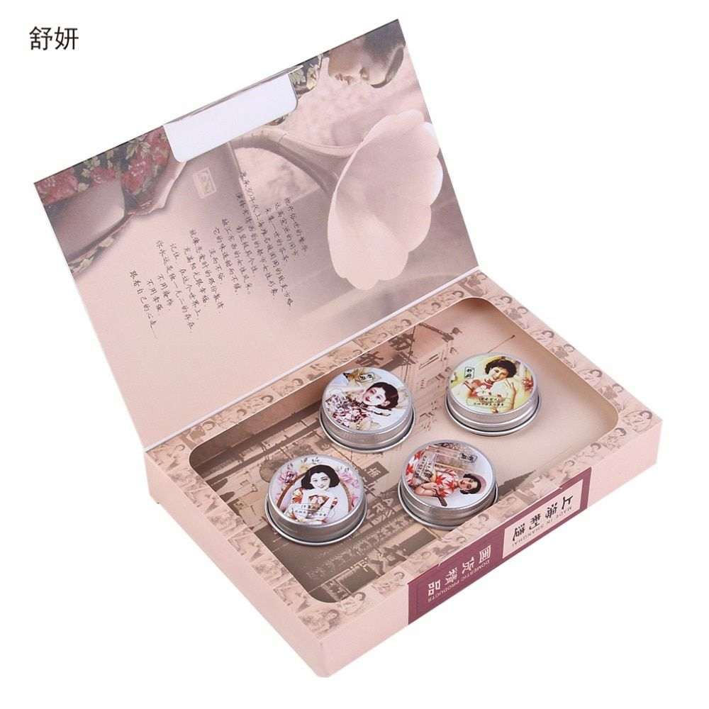 Brand ShuYan SYCZ-127 4pcs Sweet Floral Parfume Fragrance Balm Solid Perfumes For Women And Fragrances Deodorant Fragrance