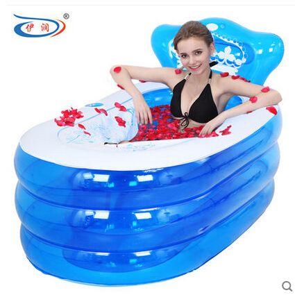 130x75x70 cm Artículos para baños bañera portátil adultos spa bañera PVC con bomba bañera inflable bañera plegable