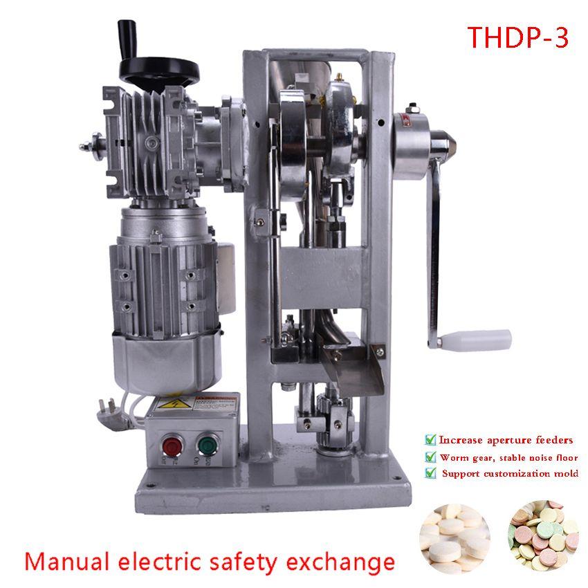 Automatic Single Punch Tablet Press Machine Manual DIY Herbal Powder Pressing Tool Pill Making Machine