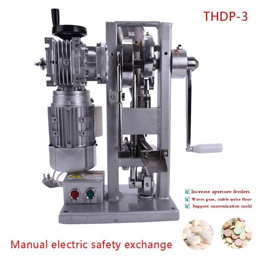 Automatic Single Punch Tablet Press Machine Manual DIY Herbal Powder Pressing Tool Pill Making Machine