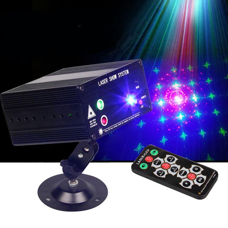 VOLLFARBE RGB Bühne Licht Laser Punkt Bühnenbeleuchtung Rot grün Blau LED DJ KTV Disco Automatische Projektor Licht Muster lichter