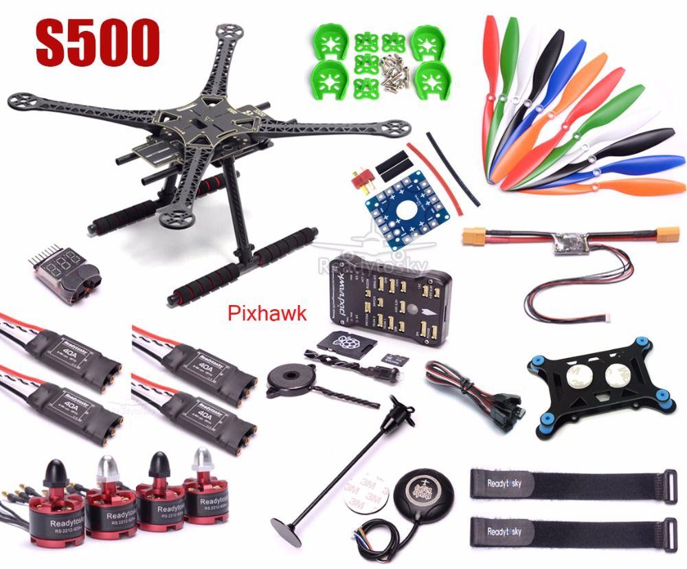 S500 Multi-Copter Quadcopter PCB Kit Pixhawk PX4 PIX 2.4.8 32 Bit Flight Controller M8N GPS 2212 920kv Motor super combo