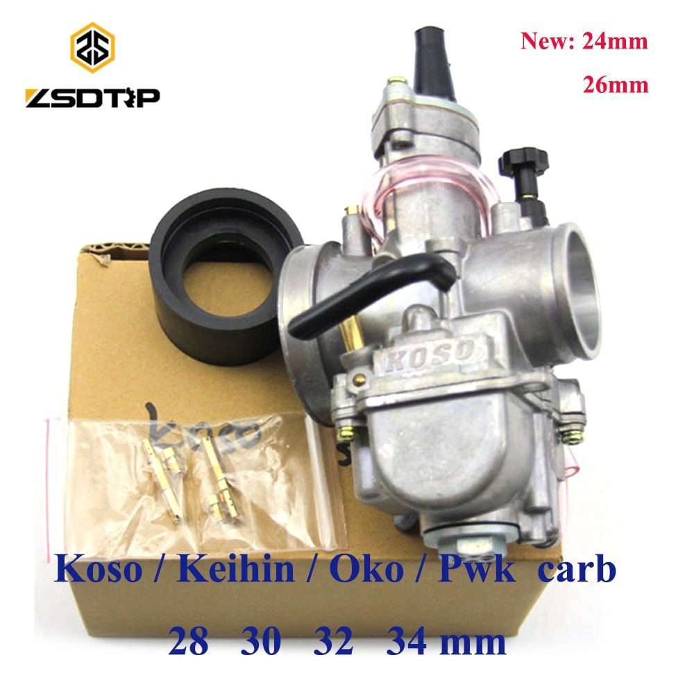 ZSDTRP Free shipping Motorcycle keihin koso pwk carburetor Carburador 28 30 32 34 mm with power jet fit on racing motor
