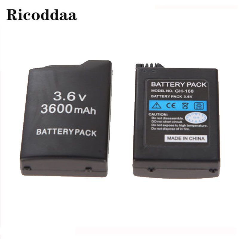 3600mAh 3.6V Battery For PSP1000 Rechargeable Battery Pack Replacement For Sony PSP 1000/PSP 1006 Console Game Accessories