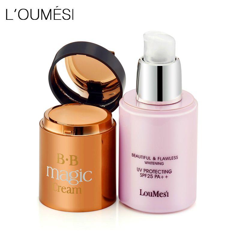 Loumesi bb crème avec anti-cernes crème Anti-cernes fond de Teint Hydratant Maquillage Nu Forte Blanchiment Visage Beauté Maquillage Maquiage