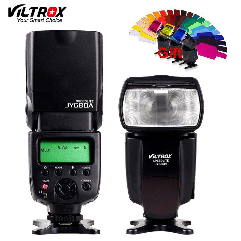VILTROX JY-680A Universal Camera LCD Flash Speedlite for Canon <font><b>1300D</b></font> 1200D 760D 750D 80D 5D IV 7D Nikon 7200D 5500D 5D 610D 750D