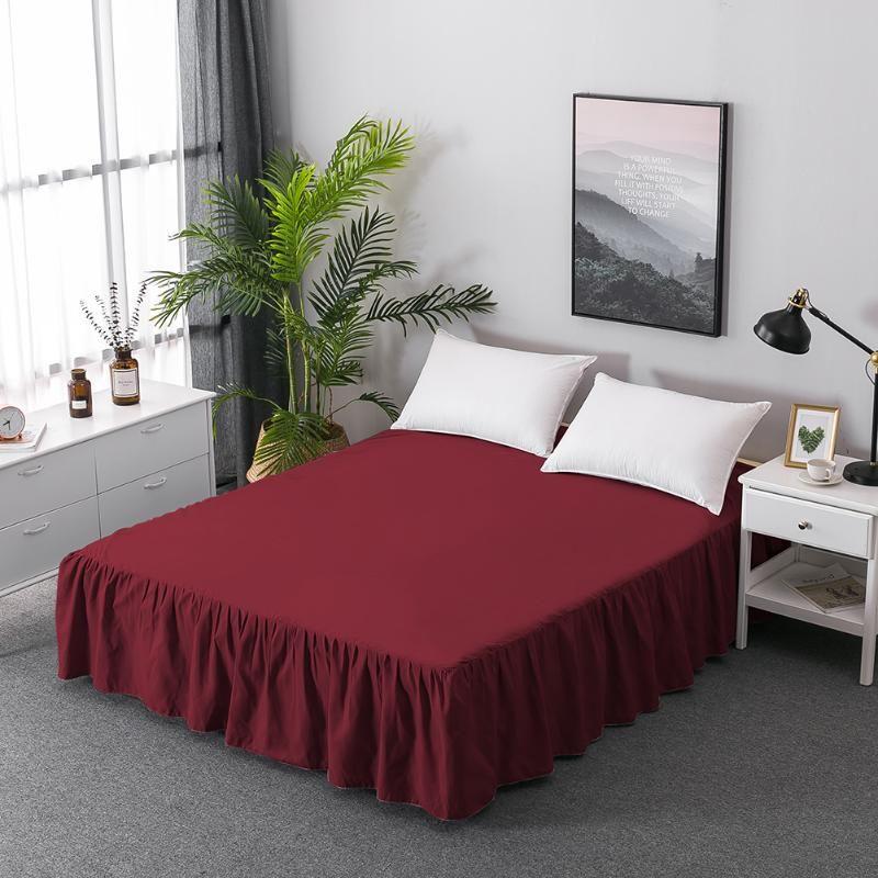 Weiche Baumwolle Bett Rock Abdeckung Blatt Elastische Bettdecke Bettwäsche Home Textile Hotel König Volle Twin Hohe Qualität Bett Rock