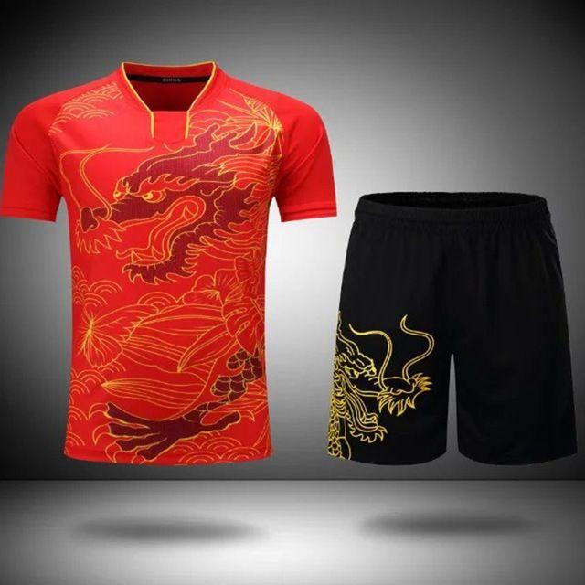 Männer Atmungsaktive Tischtennis Jersey Set, Badminton Shirt, Volleyball Trikots, spezifische Team Spiel T Shirts & Shorts