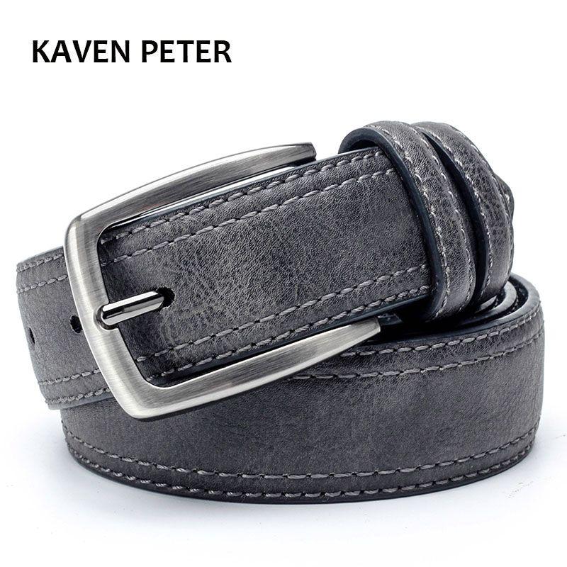 Cinturón de Correa de Cuero de Los Hombres De Marca Famosa Mens Cinturones de Lujo Para hombre Cinturones de Diseño Con Estilo de La Vendimia Para Los Pantalones Vaqueros 3.5 Cm amplia