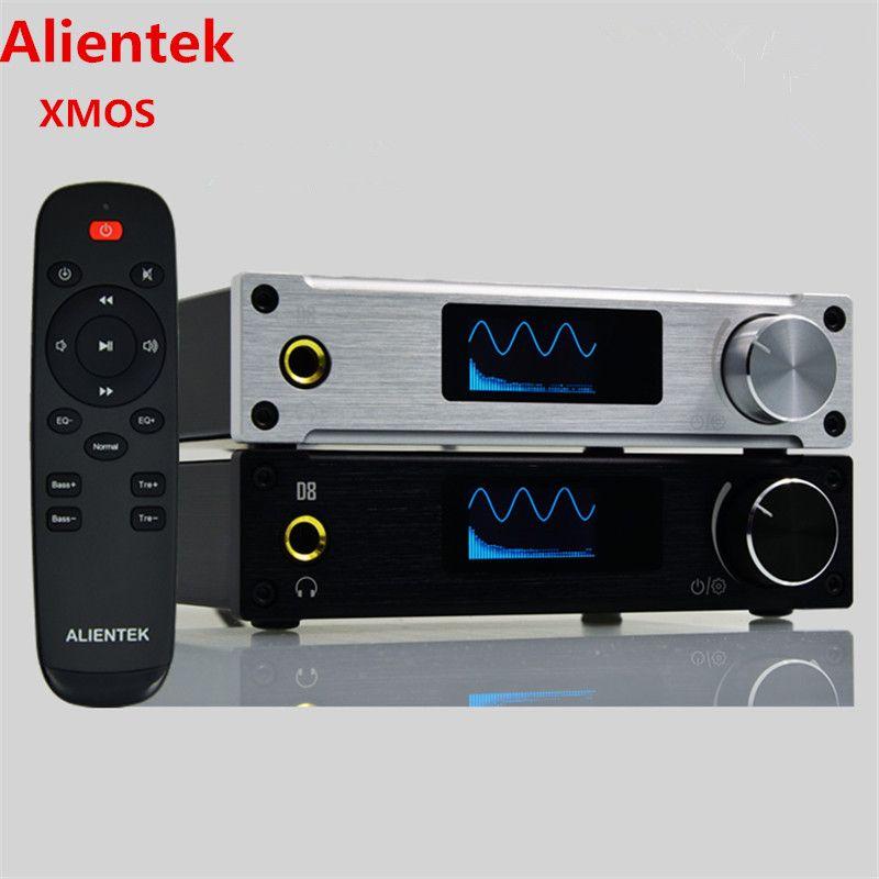 Alientek D8 Full Pure Digital Audio Headphone Amplifier Input USB/XMOS/Coaxial/Optics/AUX 80W*2 24Bit/192KHz DC28V Class d Power