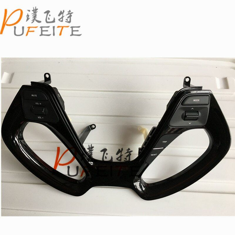All new Steering wheel channel control button fit for NEW KIA K2/RIO 2015 Steering wheel buttons