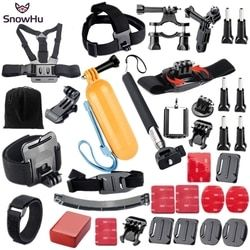 SnowHu for Gopro Accessories set for go pro hero 6 5 4 3 kit mount for SJCAM SJ4000 for xiaomi yi camera for eken h9 tripod GS21