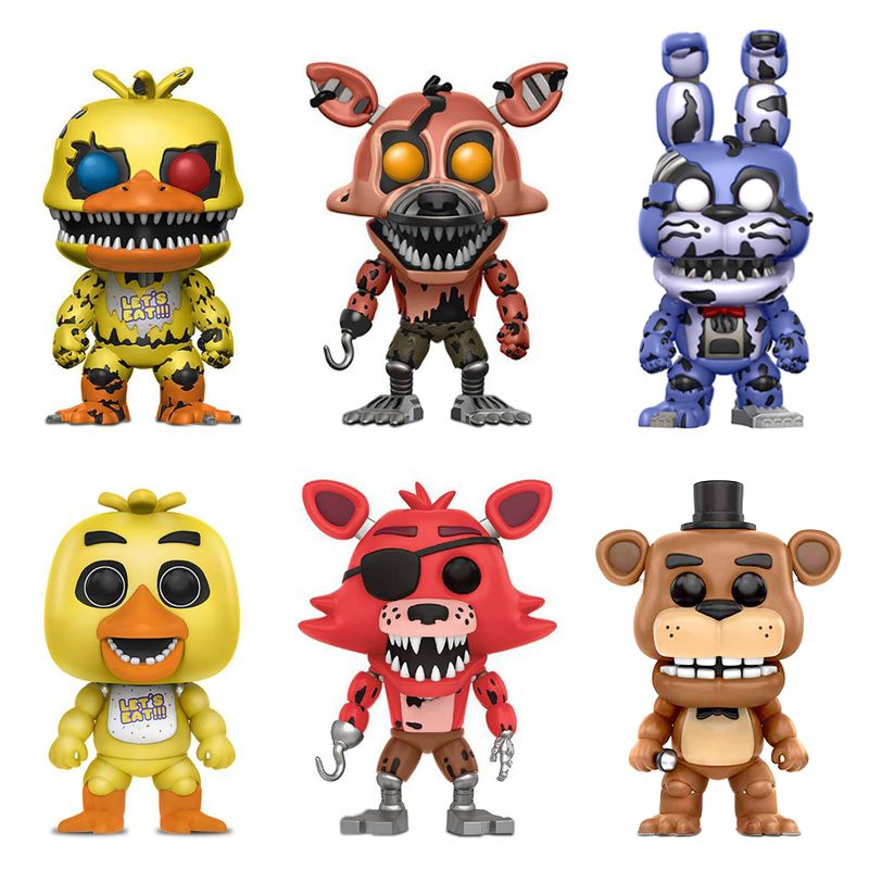 10 pièces Five Nights At Freddy's Jouets PVC Figurines FNAF Chica Bonnie Foxy Funtime Freddy Fazbear Marionnette Cauchemar Ours Poupées