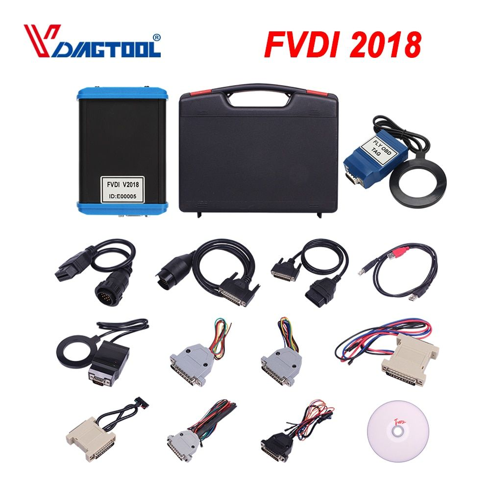 2018 FVDI Abrites Kommandant 2015 FVDI Volle Diagnose Werkzeug Scanner mit 18 Software Enthalten VVDI2 Für VAG/Für BMW schlüssel Funktionen