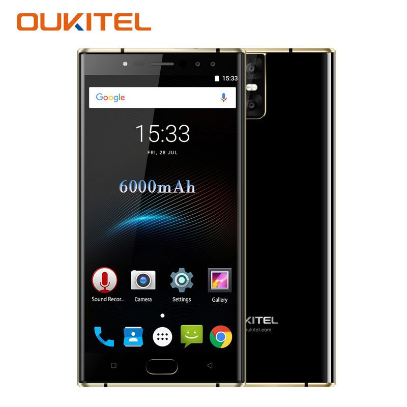 Oukitel K3 Smartphone 5.5''Fingerprint  4GB RAM 64GB Octa Core 4 Cameras 16MP+2MP 6000mAh OTG Android 7.0 4G Unlocked Cell Phone