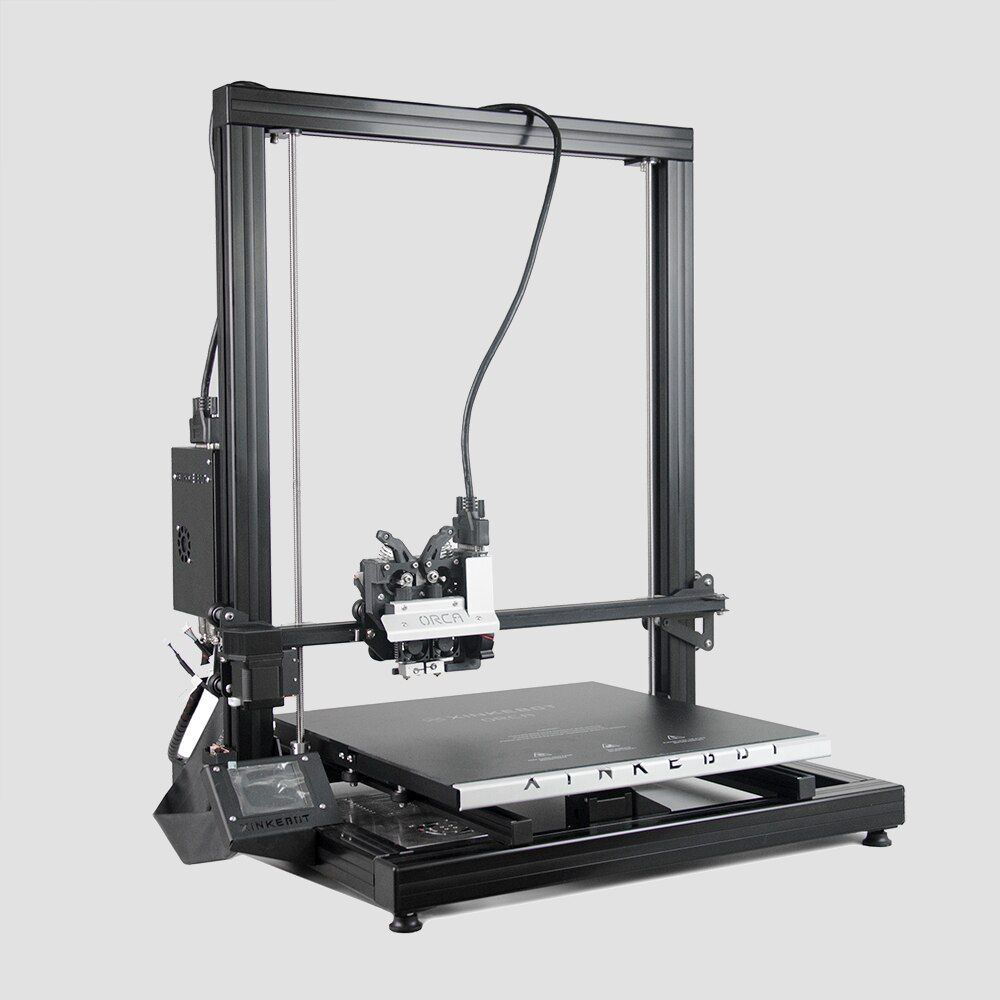 Xinkebot Orca 2 Cygnus Big 3D Printer Large Printing Area 400x400x500mm 0.05mm Resolution Dual Head LCD Touch Sreen