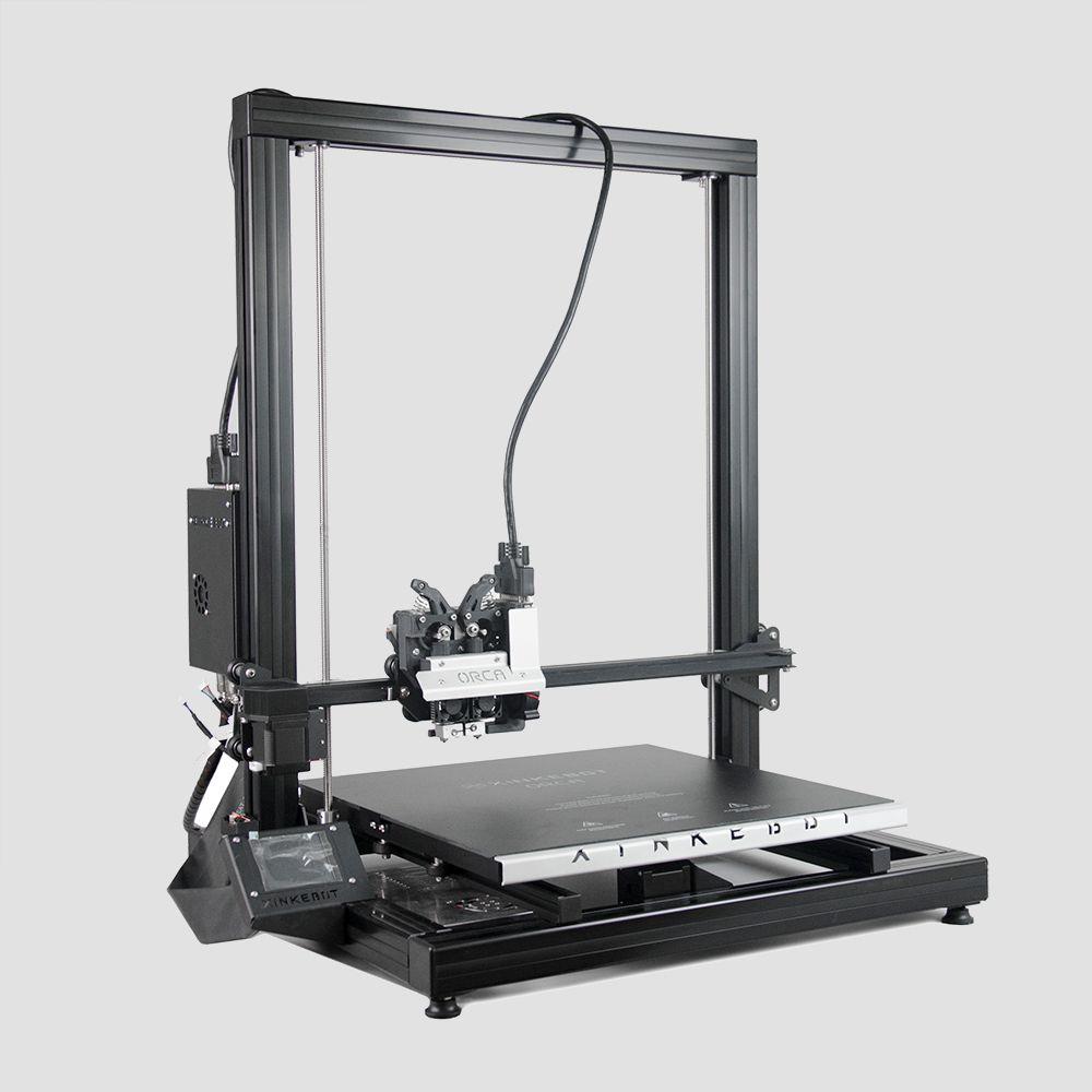 Xinkebot Orca 2 Cygnus Big 3D Printer Large Printing Area 400x400x500mm 0.05mm Resolution Dual Head LCD Touch Sreen