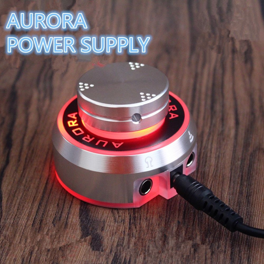 2017 New Mini Critical AURORA Tattoo Power Supply with Knob to adjust voltage Supply Siliver - TPS01#