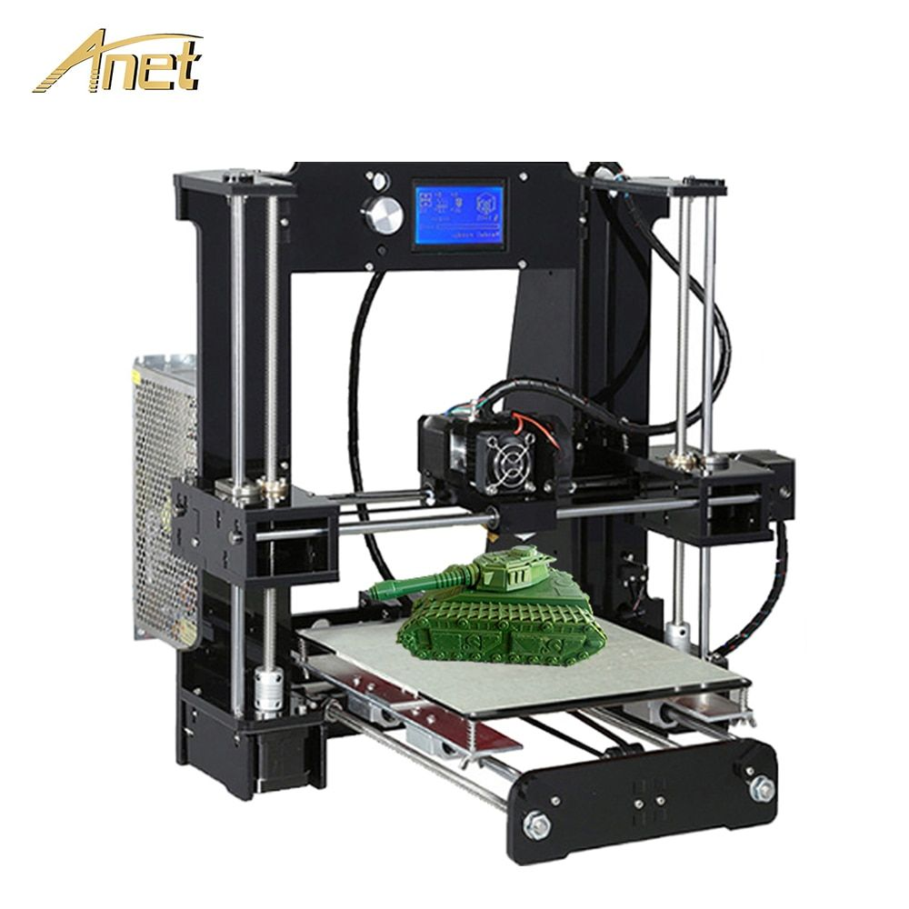 Anet A8 A6 Normal Auto Level A8 Desktop 3D Printer Kit Easy Assemble Reprap Prusa I3 3D Printer DIY Kit with 10m PLA Filament