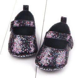 Precioso bebé Niñas Zapatos lentejuelas Soft suela primera Walker algodón Zapatos inferior suave Niñas Zapatos