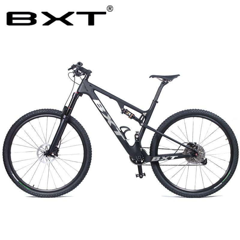 BXT Neue Full Suspension Carbon Berg 29er MTB Fahrrad Rahmen BSA 142X12mm 148*12mm Suspension rahmen Reise 100mm Freies Verschiffen