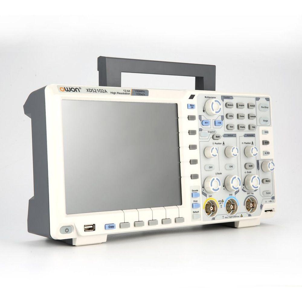 OWON XDS2102A Dual Kanal Tiefe Speicher LCD Display Digital Speicher Oszilloskop Scopemeter Scope Meter 100 MHz 1GSa/s