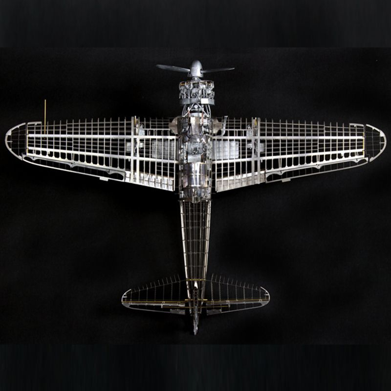 High-end DIY Assembly Model 1/32 All-metal Zero-type Fighter Zero War Precision Internal Skeleton Assembly Model Educational Toy
