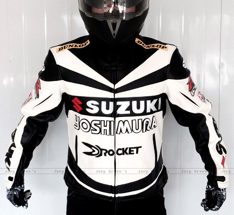 Motorcycle racing suit Professional Classic racing jacket for SUZUKI leather PU overalls winter motorcycles riding clothes
