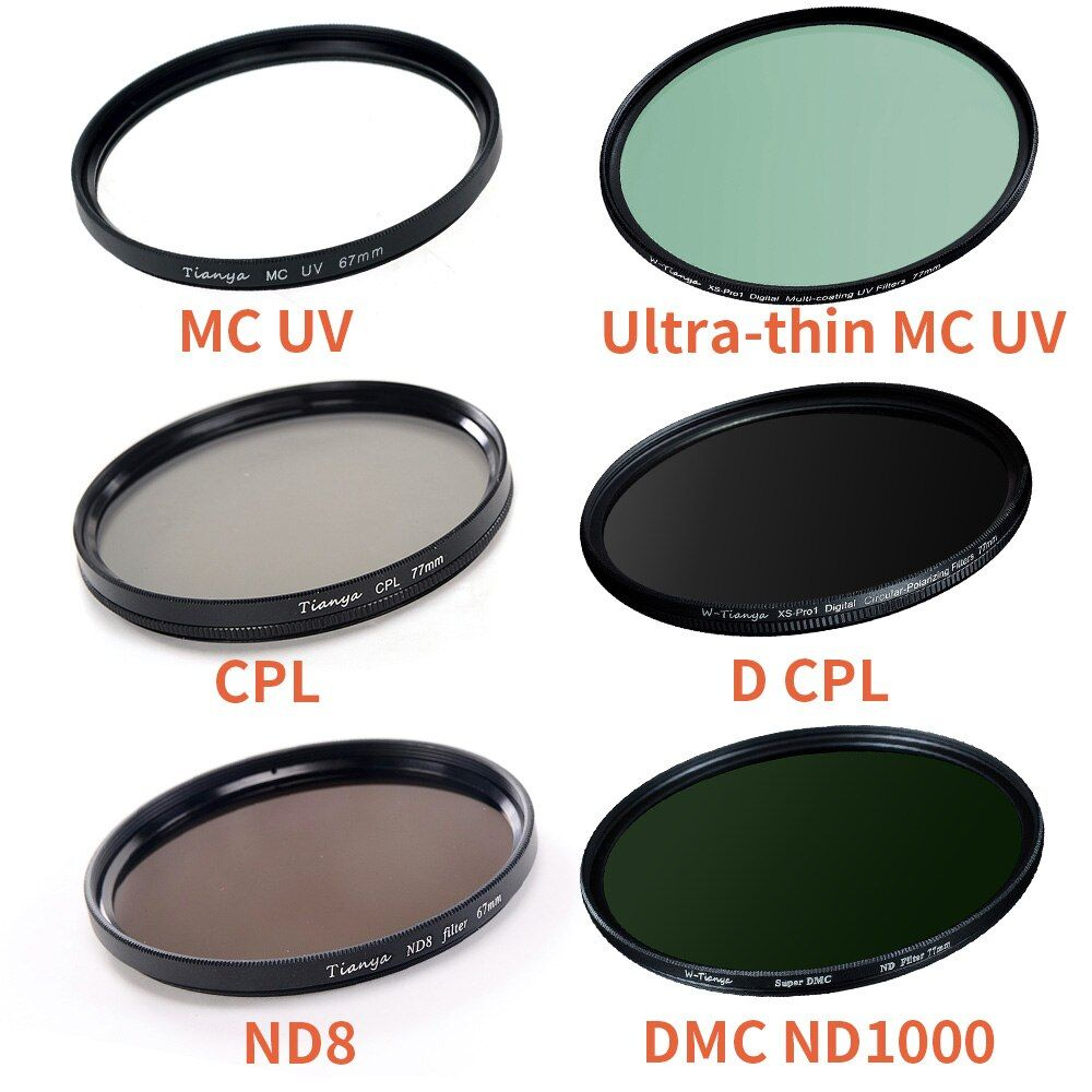 wtianya 67mm UV CPL ND4 ND8 ND1000 close-up star gradient filters kit for Canon 18 135mm or Nikon 18 105mm/18 140mm lens filter