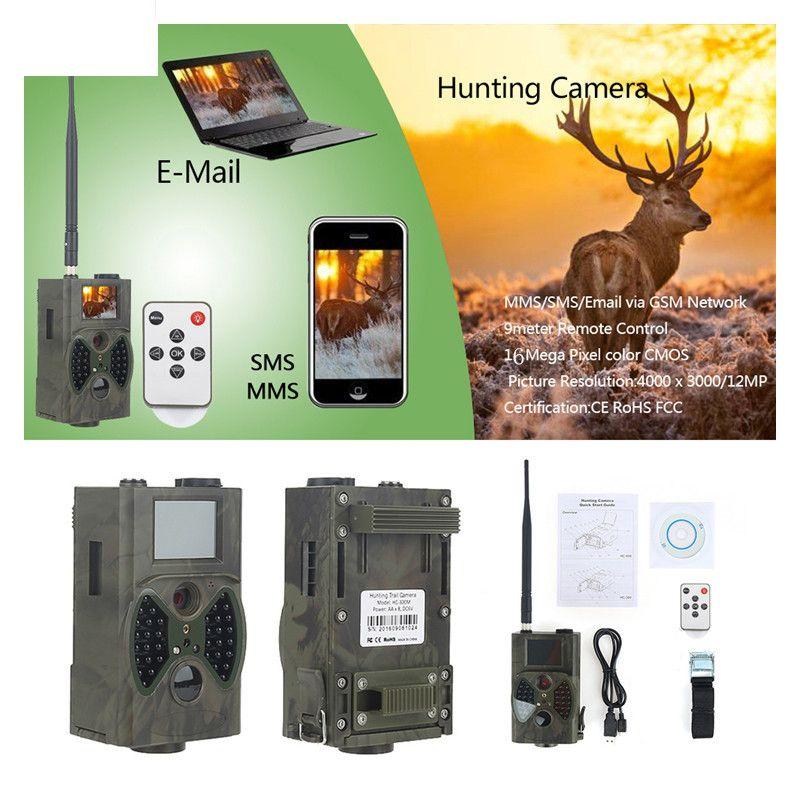 Fishing Camera Fish Tools HC350M HC 350M Hunting Trail Camera 16MP 0.5s trigger photo trap 1080P Video Night Vision MMS GPRS