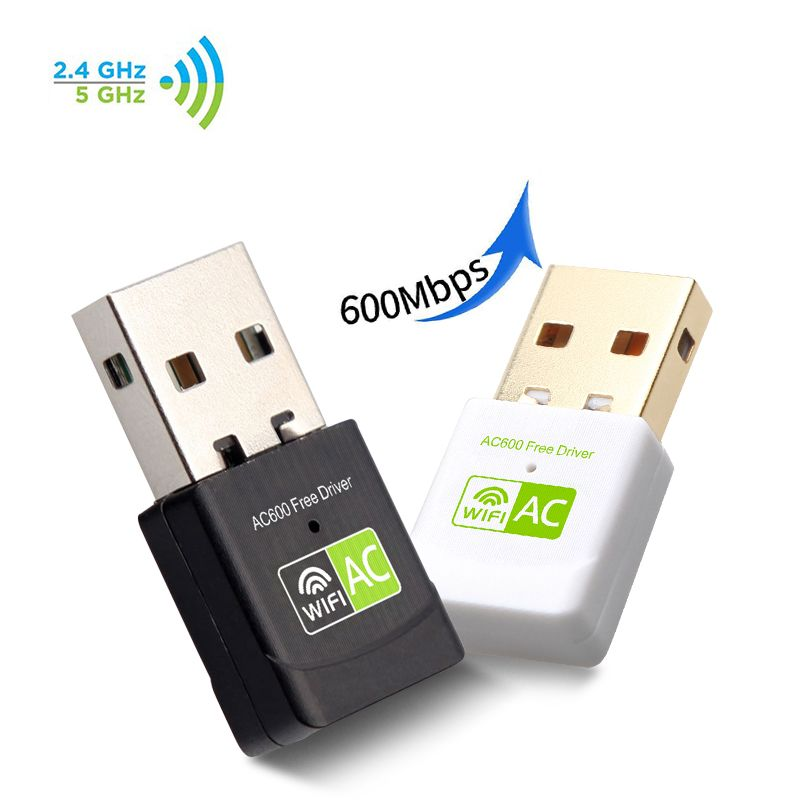 USB Wifi Adapter USB Ethernet Network Card 600Mbps 5Ghz USB Wi-Fi Adapter PC Antena WiFi Receiver AC WiFi Dongle Wi Fi Adapter