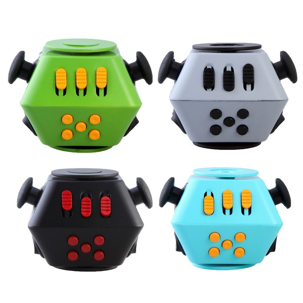 5 colores Mini Cubo Divertido Juguete Ruleta Escritorio Juguetes Finger Fun HandSpinner Calmante Para El Estrés Antiestrés Cubo juguetes