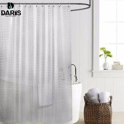 SDARISB PEVA 3d Tahan Air Shower Curtain Transparan Putih Jelas Plastik Kamar Mandi Tirai Mandi Tirai Mewah Dengan 12 pcs Kait