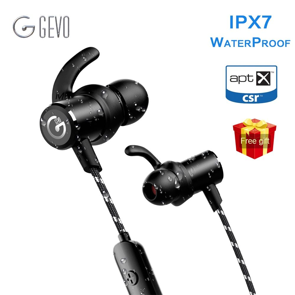 GEVO GV-18BT Wireless Headphone Bluetooth Sport In ear Magnetic Stereo <font><b>Bass</b></font> Waterproof Headset Earbuds Earphone For Xiaomi Phone
