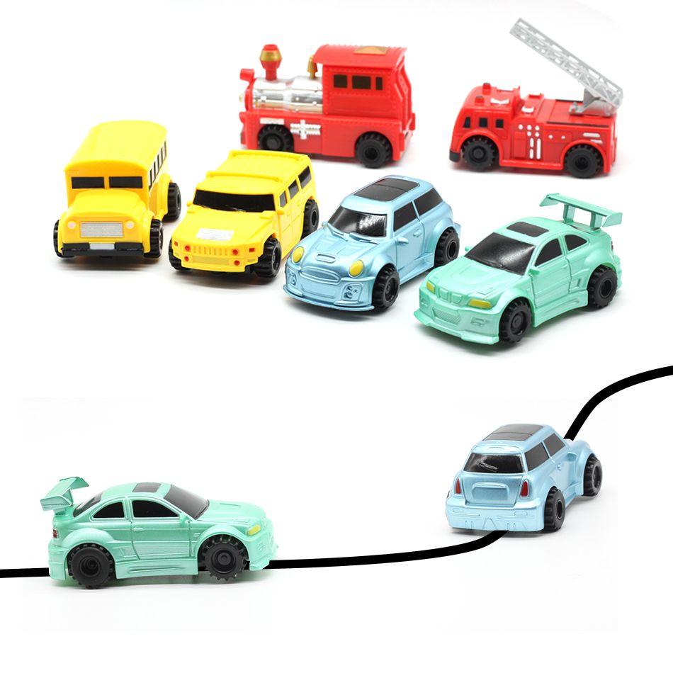 Nouvelle Ingénierie Véhicules Camion MINI Magic Pen Inductif Enfants Camion de Réservoir Jouet Voiture Tirage Lignes Induction rail Piste De Voiture