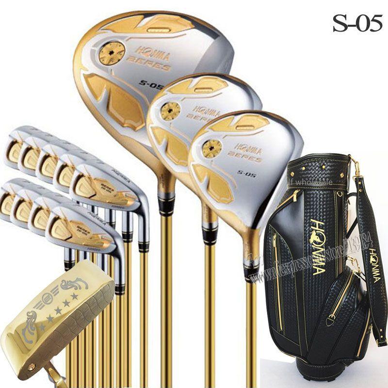 New Golf Clubs Honma S-05 4 sterne komplette clubs set Golf Fahrer + holz + eisen + putter + tasche graphit golfschaft headcover Kostenloser versand