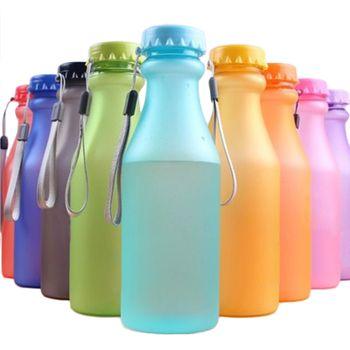 HIFUAR Brand 550mL 1PC Portable Water Bottle plastic bottle for water Unbreakable Frosted Leak-proof Plastic Kettle Travel Yoga